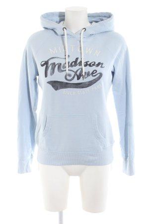 H&M Kapuzensweatshirt blau Schriftzug gedruckt Casual-Look