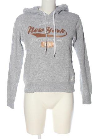 H&M Kapuzensweatshirt hellgrau-braun meliert Casual-Look