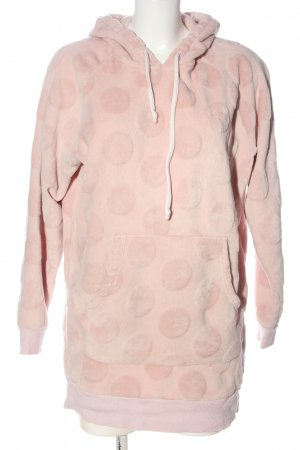H&M Kapuzensweatshirt pink Punktemuster Casual-Look