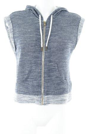 H&M Kapuzenweste dunkelblau-wollweiß meliert sportlicher Stil
