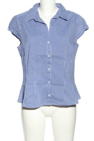 H&M Karobluse blau-weiß Allover-Druck Business-Look