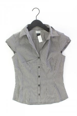 H&M Checked Blouse black cotton