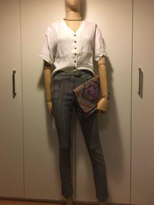 H&M Pantalon strech noir-blanc