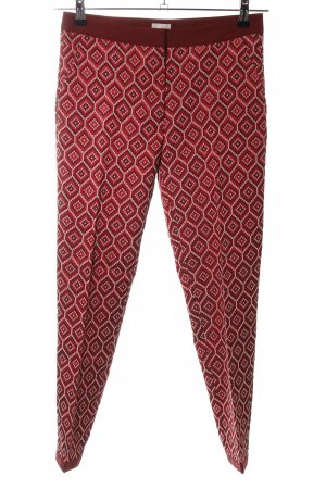 H&M Karottenhose rot-nude Allover-Druck Casual-Look