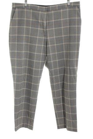H&M Pantalón de pinza alto gris claro-blanco estampado a cuadros