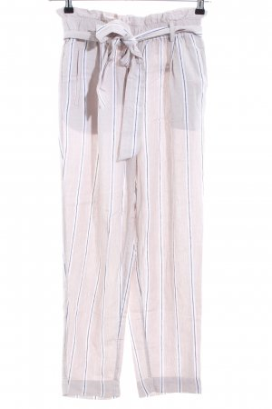 H&M Peg Top Trousers striped pattern business style