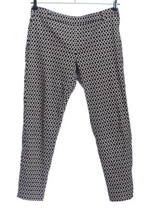 H&M Pantalón de pinza alto negro-blanco look casual