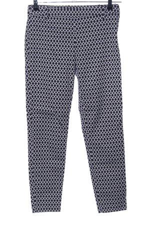 H&M Karottenhose schwarz-weiß Allover-Druck Casual-Look