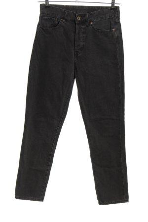 H&M Wortel jeans zwart casual uitstraling