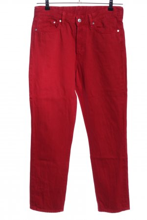 H&M Carrot Jeans red casual look