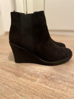 H&M Wedge Booties black