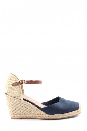 H&M Wedge Pumps blue-natural white casual look