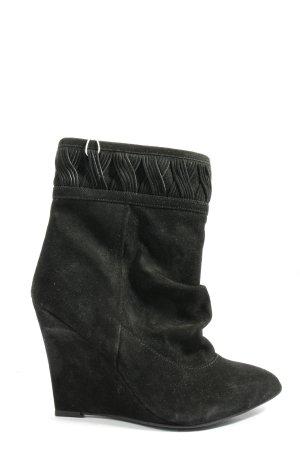 H&M Keil-Stiefeletten schwarz Casual-Look