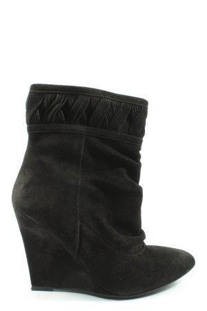H&M Keil-Stiefeletten schwarz Elegant