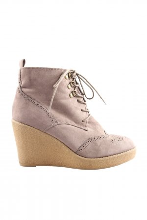 H&M Wedge Booties lilac casual look