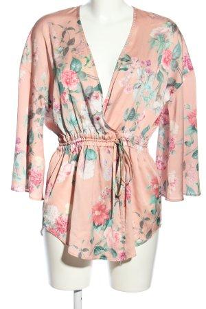 H&M Kimono Blumenmuster Casual-Look