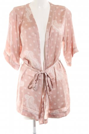 H&M Kimono roze-wit abstract patroon casual uitstraling