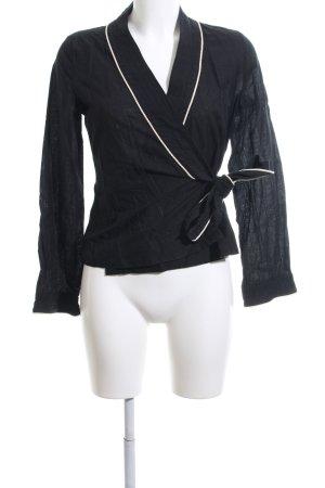 H&M Kimono-Bluse schwarz Business-Look