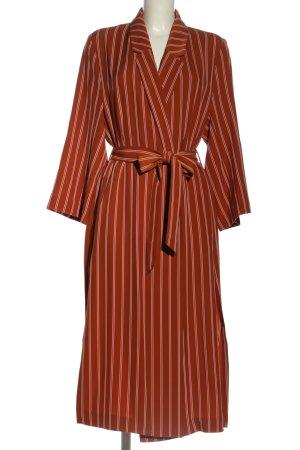 H&M Kimono orange clair motif rayé style décontracté