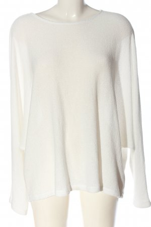 H&M Kimono Pullover weiß Webmuster Casual-Look