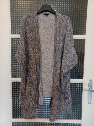 H&M Pull kimono noir-blanc viscose