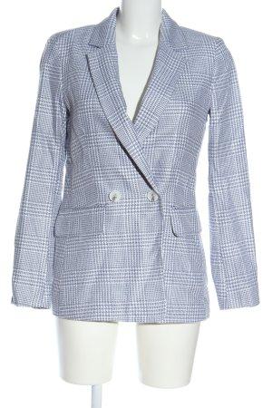 H&M Klassischer Blazer blau-weiß Karomuster Business-Look