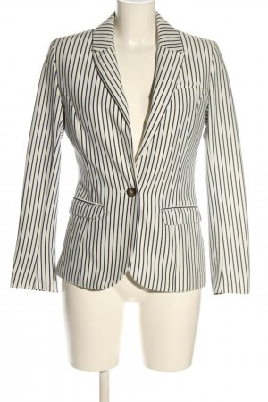 H&M Klassischer Blazer weiß-blau Streifenmuster Casual-Look