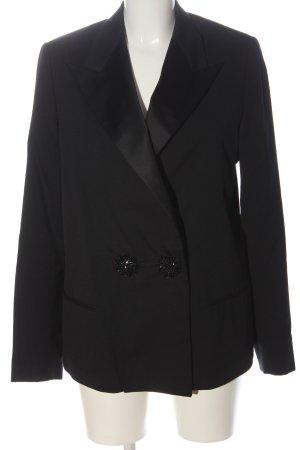 H&M Klassischer Blazer schwarz meliert Casual-Look