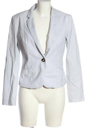 H&M Klassischer Blazer weiß-schwarz Streifenmuster Casual-Look