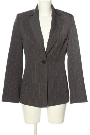 H&M Klassischer Blazer hellgrau Streifenmuster Business-Look