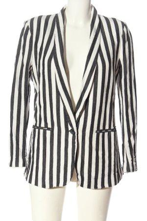H&M Klassischer Blazer schwarz-weiß Streifenmuster Casual-Look