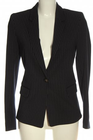 H&M Klassischer Blazer schwarz-weiß Allover-Druck Business-Look
