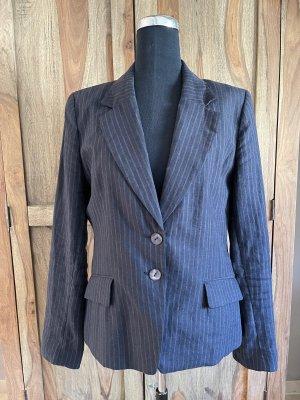 H&M klassischer Blazer dunkelblau mit weißen Nadelstreifen