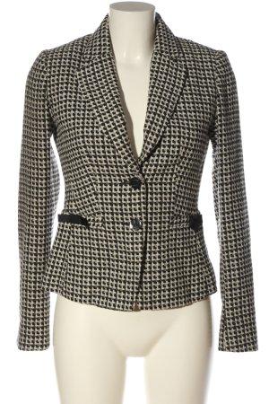 H&M Klassischer Blazer weiß-schwarz Casual-Look