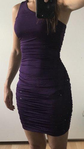 H&M Vestido de un hombro violeta oscuro