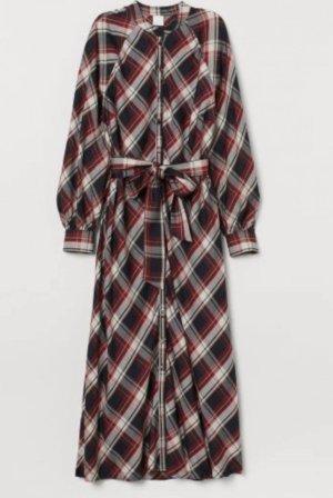 H&M Sukienka z długim rękawem ceglasty-czarny