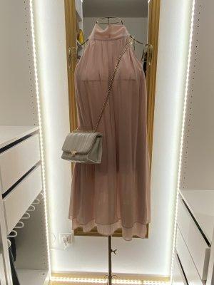H&M Vestido de chifón rosa empolvado