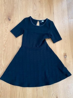 H&M Peplum Dress black mixture fibre