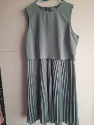 H&M Robe à manches courtes bleu pâle polyester