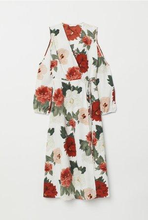 H&M Robe portefeuille multicolore