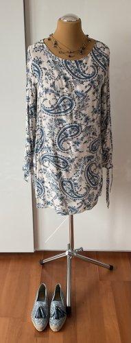 H&M Kleid beige blau Gr. 42 sehr guter Zustand