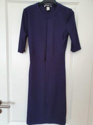H&M Kleid blau top Zustand Jerseykleid Knielang Größe S stretch