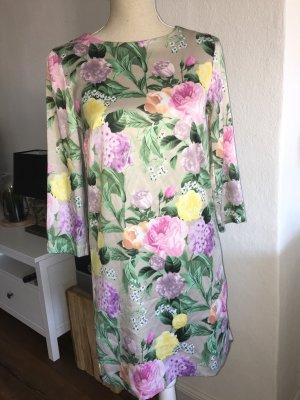H&M Kleid Blumenprint Gr. 34 XS Tunika