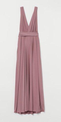 H&M Kopertowa sukienka różowy