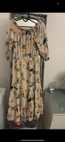 H&M Sukienka z dekoltem typu bandeau różany
