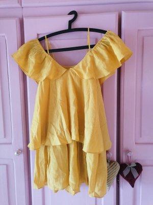 H&M Kleid gelb Größe 34