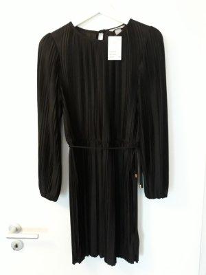 H&M Kleid Gr.36 schwarz Midi neu