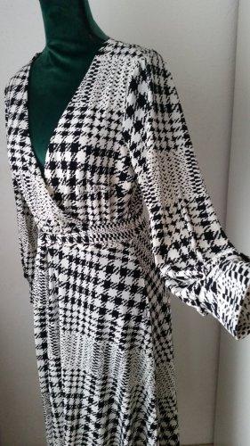 H&M Abito jersey bianco-nero