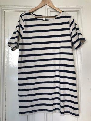 H&M Mini Dress dark blue-natural white
