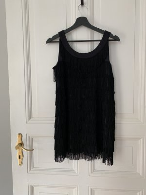 H&M Abito con frange nero